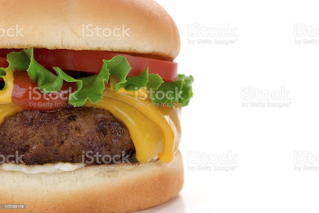 Big Fat Cheeseburger royalty-free stock photo