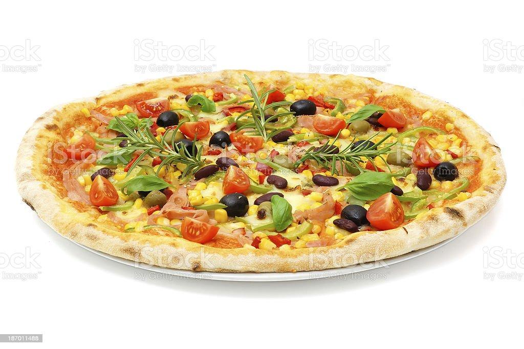 big fat italian pizza royalty-free stock photo