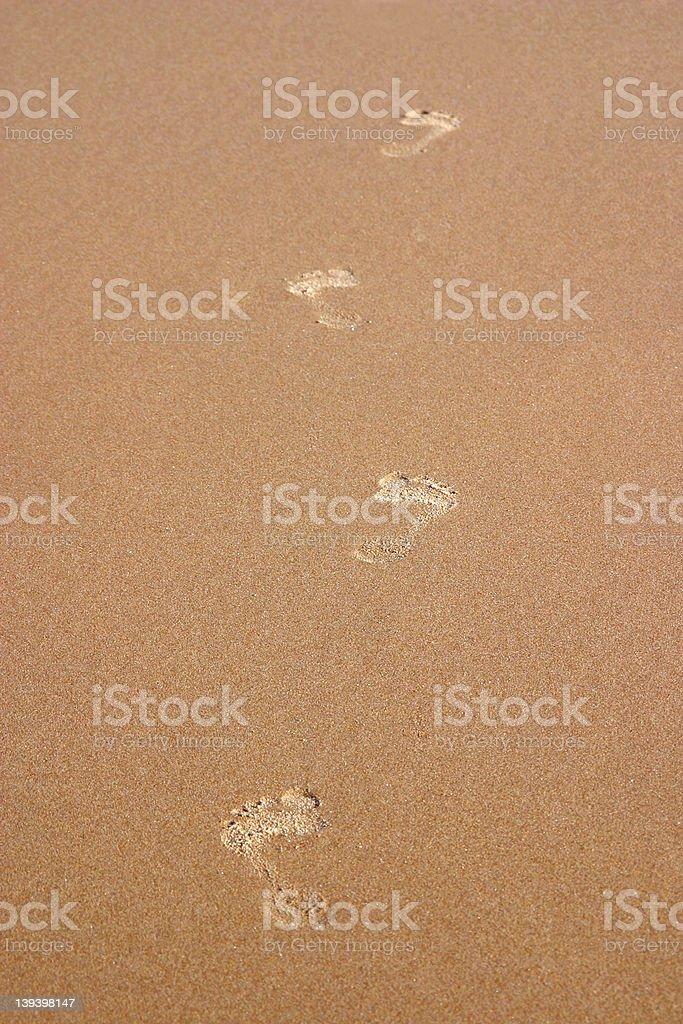 Big Feet On Sand royalty-free stock photo