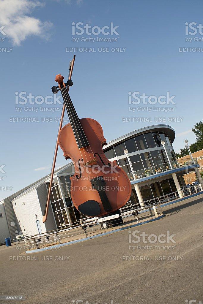 Big Fiddle at Joan Harriss Pavillion royalty-free stock photo