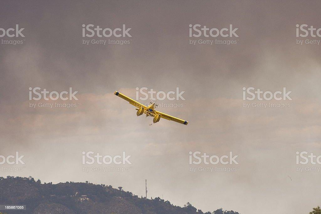 Big Fire in Serra de Perre stock photo