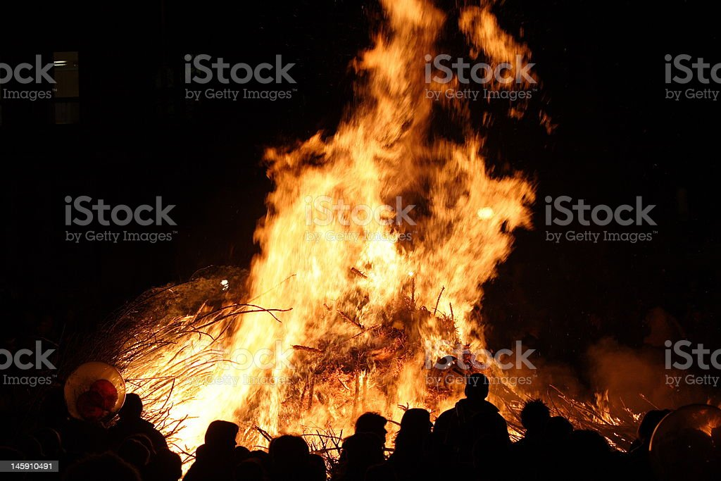 Big fire royalty-free stock photo
