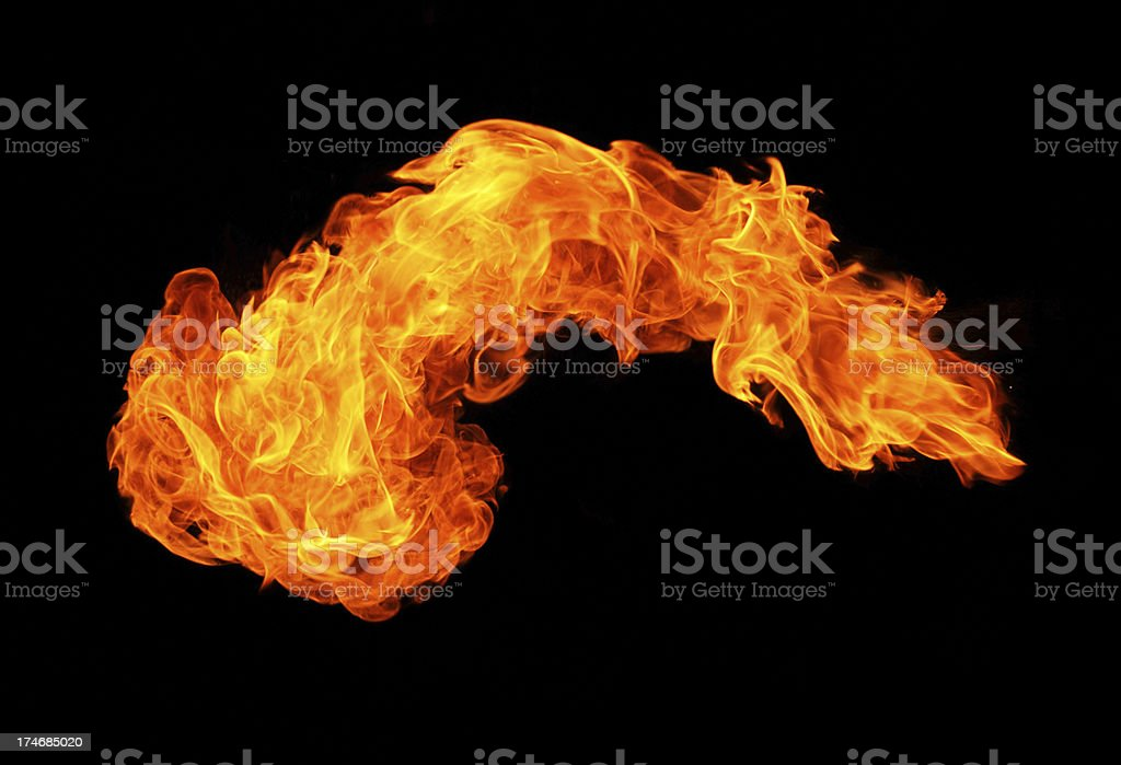 Big fireball royalty-free stock photo