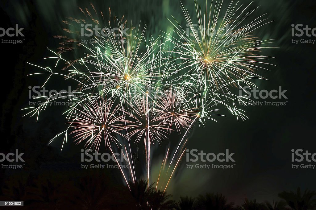 Big firework royalty-free stock photo