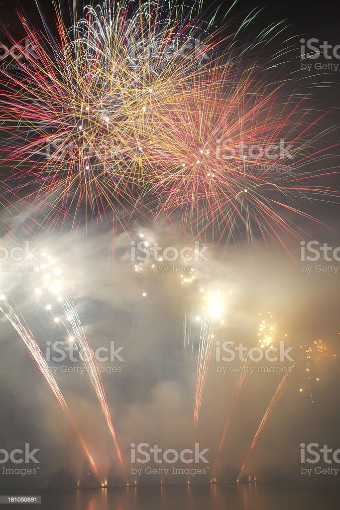 Big fireworks blast stock photo