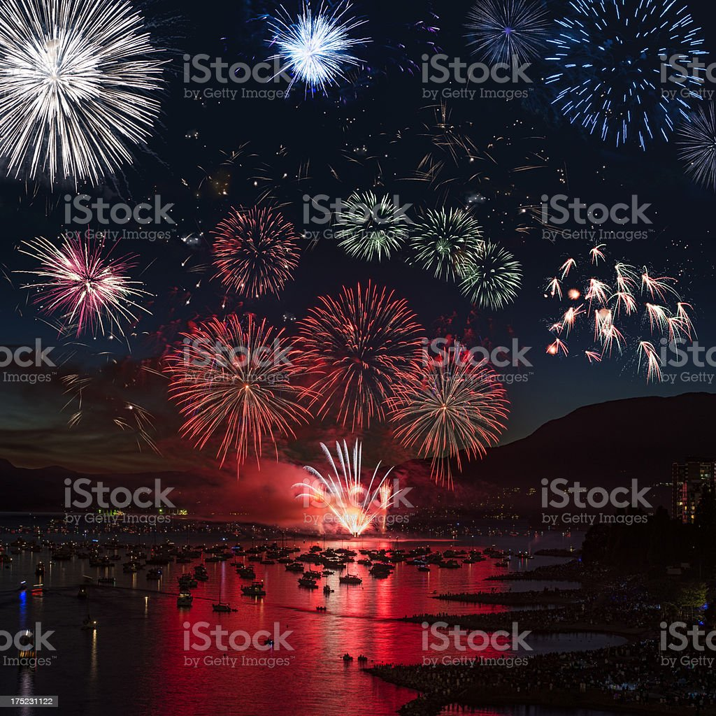 Big Fireworks Display royalty-free stock photo