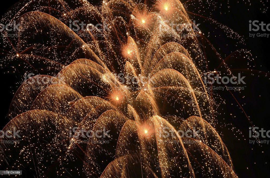 Big Fireworks royalty-free stock photo