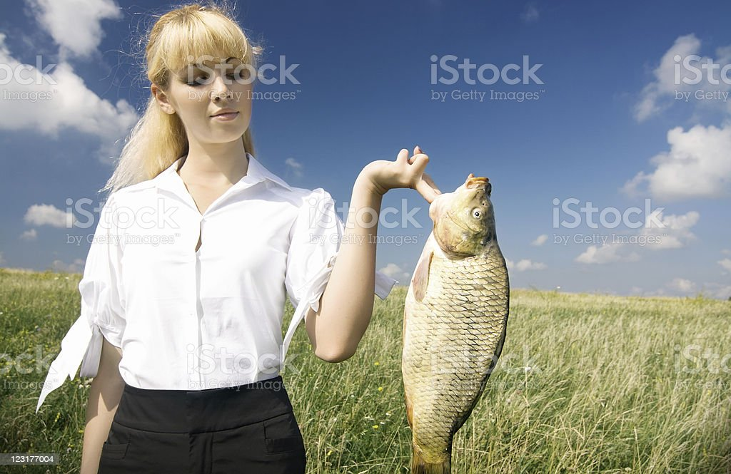 Big 'fish' - great deal stock photo