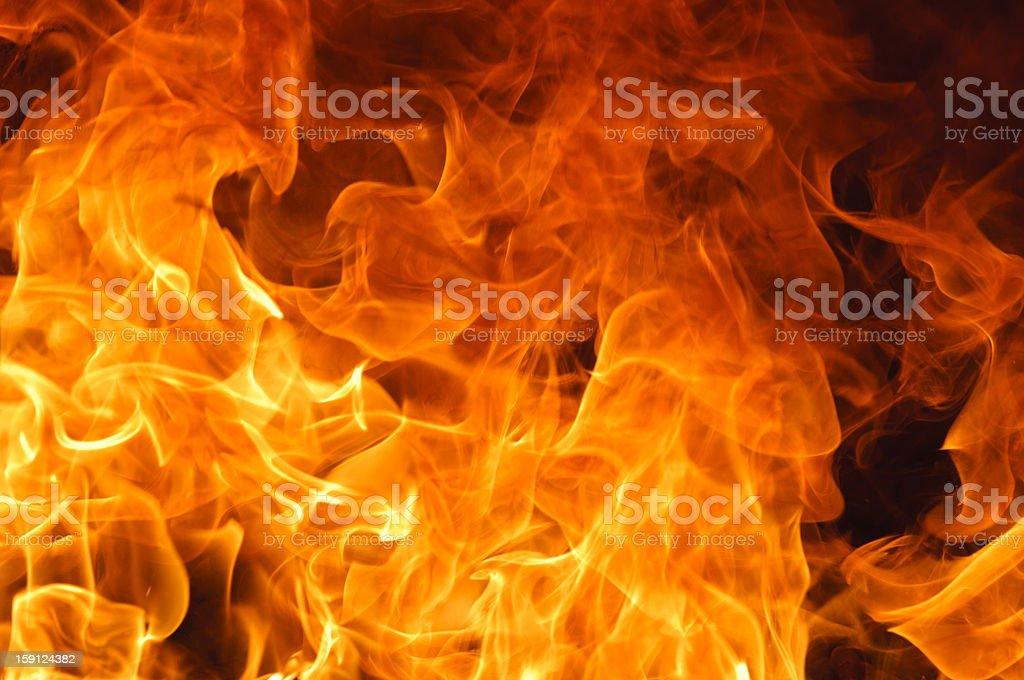 Big flame royalty-free stock photo