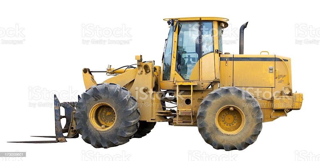 Big Forklift royalty-free stock photo