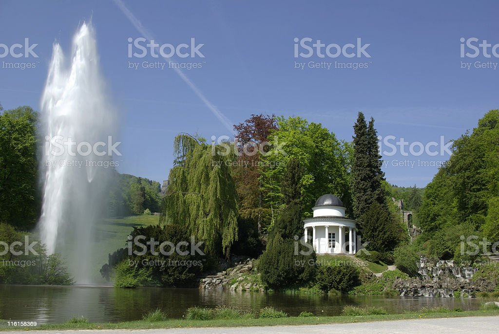 Big fountain at the waterworks stock photo