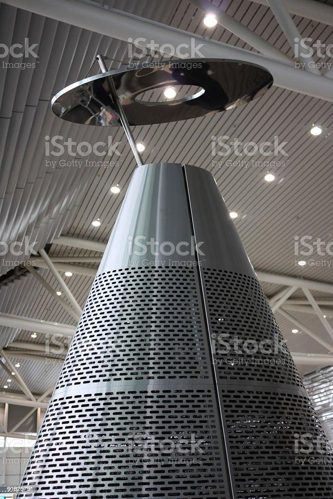 Big futuristic metal heater royalty-free stock photo