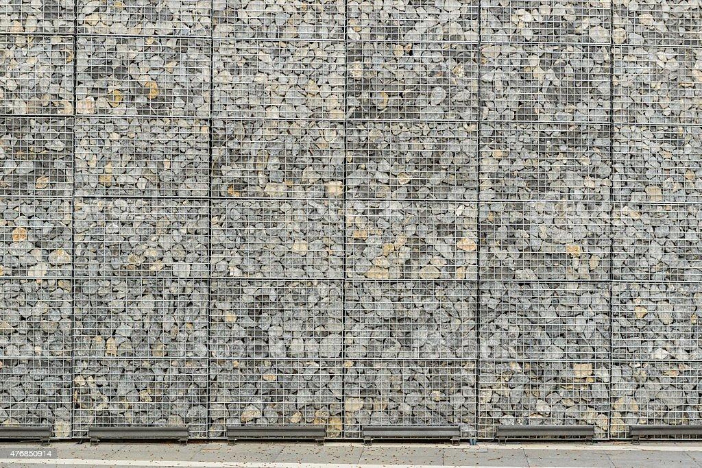 Big Gabion Wall stock photo
