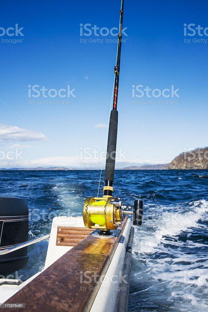 Big game fishing on the Costa Rica coast royalty-free stock photo