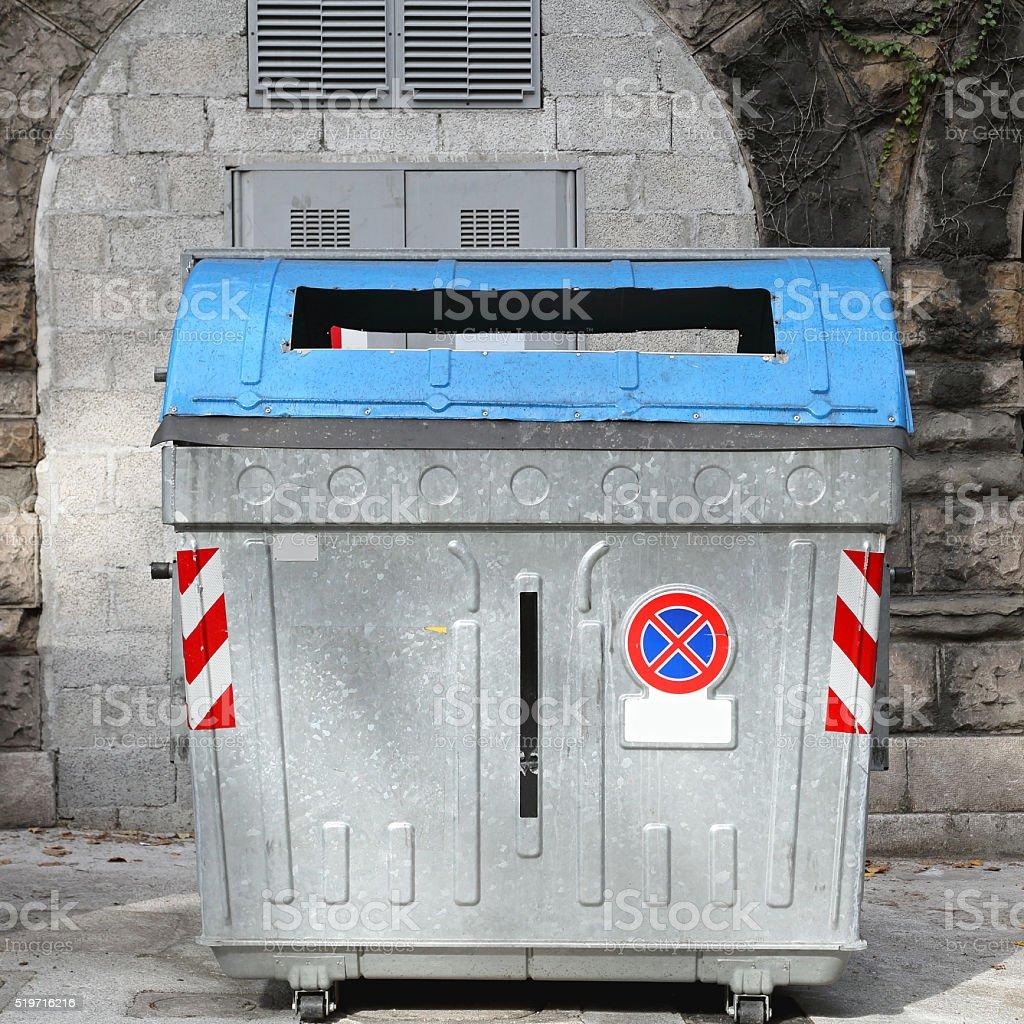 Big Garbage Can stock photo