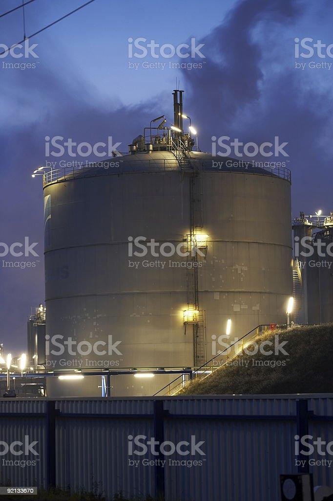 Big gas tank royalty-free stock photo