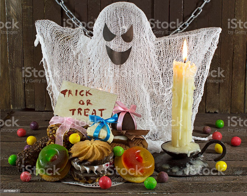 Big ghost with treating stock photo