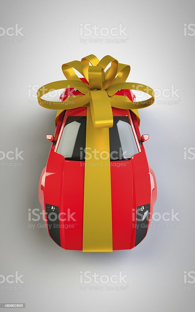 Big Gift car present royalty-free stock photo