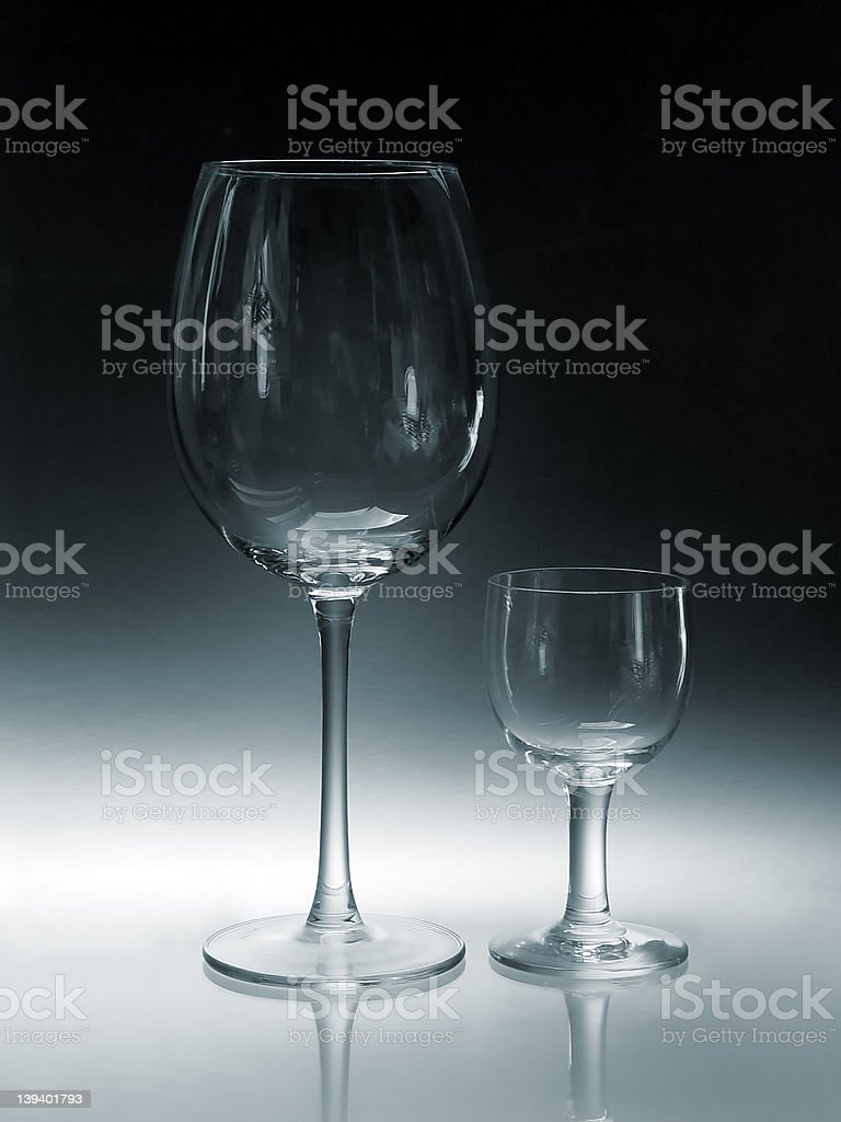 Big Glass, Small Glass royalty-free stock photo