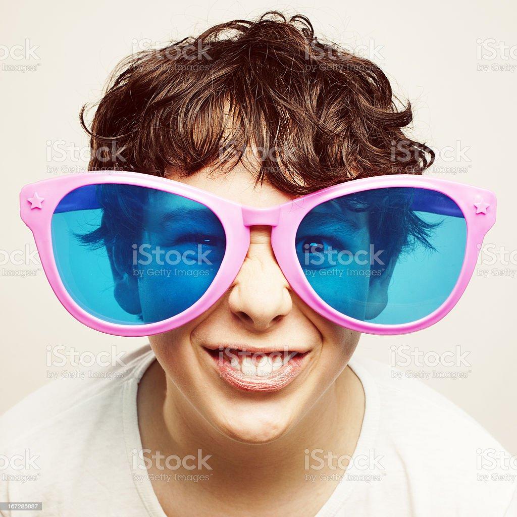 Big glasses royalty-free stock photo