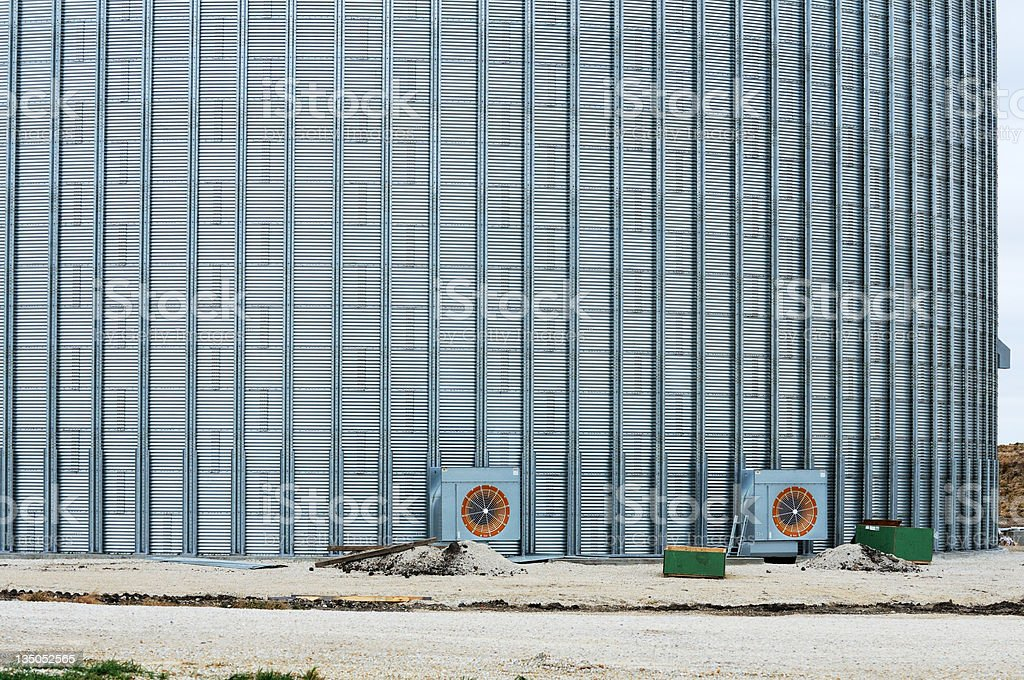 Big Grain Bin stock photo