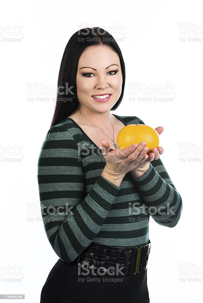 Big grapefruit royalty-free stock photo