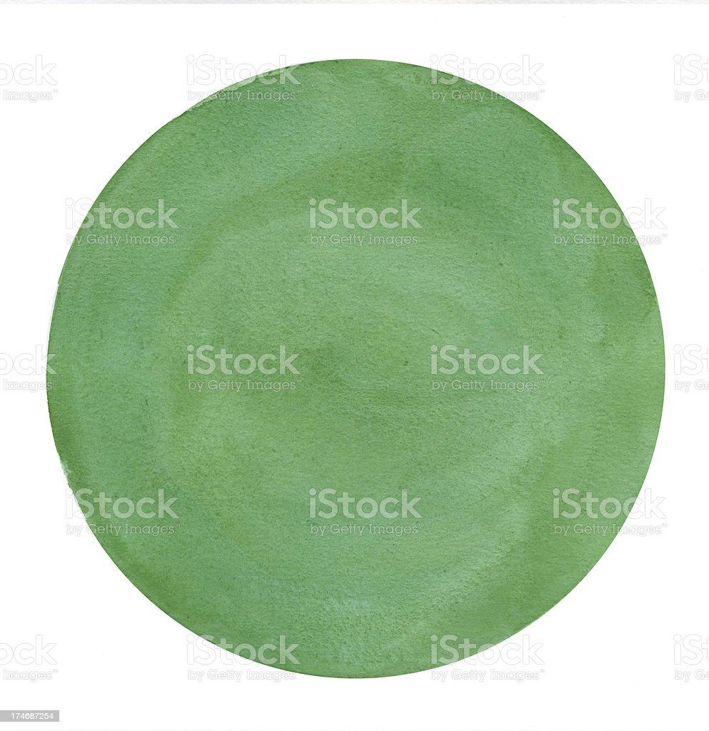 Big Green Circle Frame royalty-free stock photo