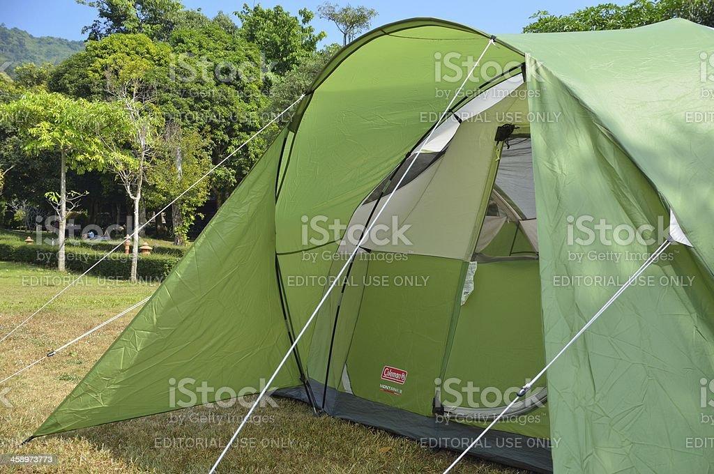 Big green tent royalty-free stock photo