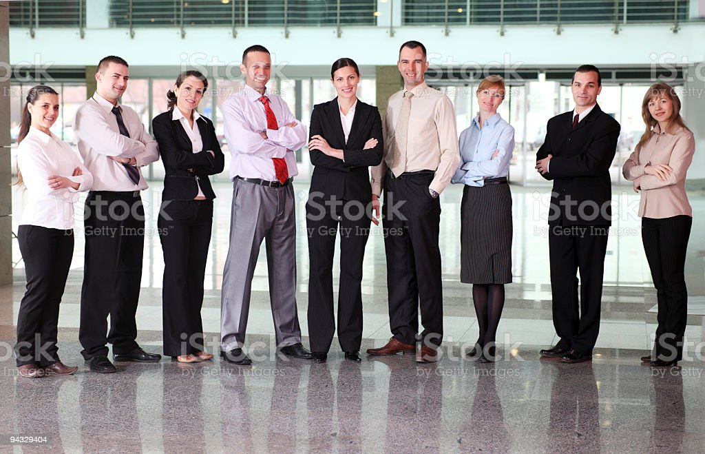 Big group of a business people. royalty-free stock photo