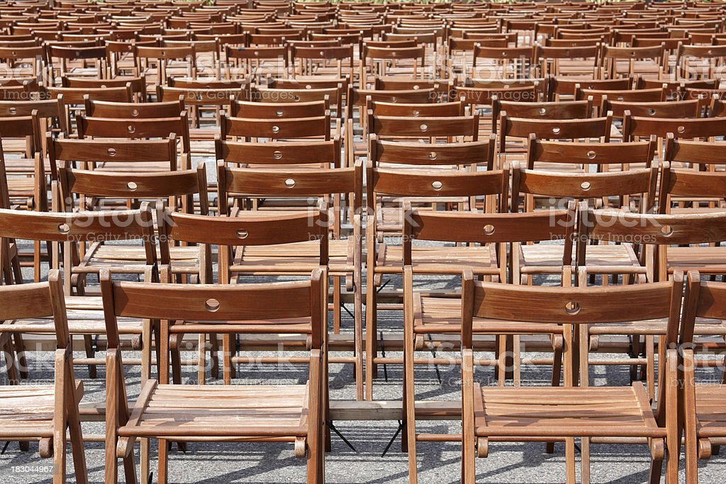 big group of empty chairs royalty-free stock photo