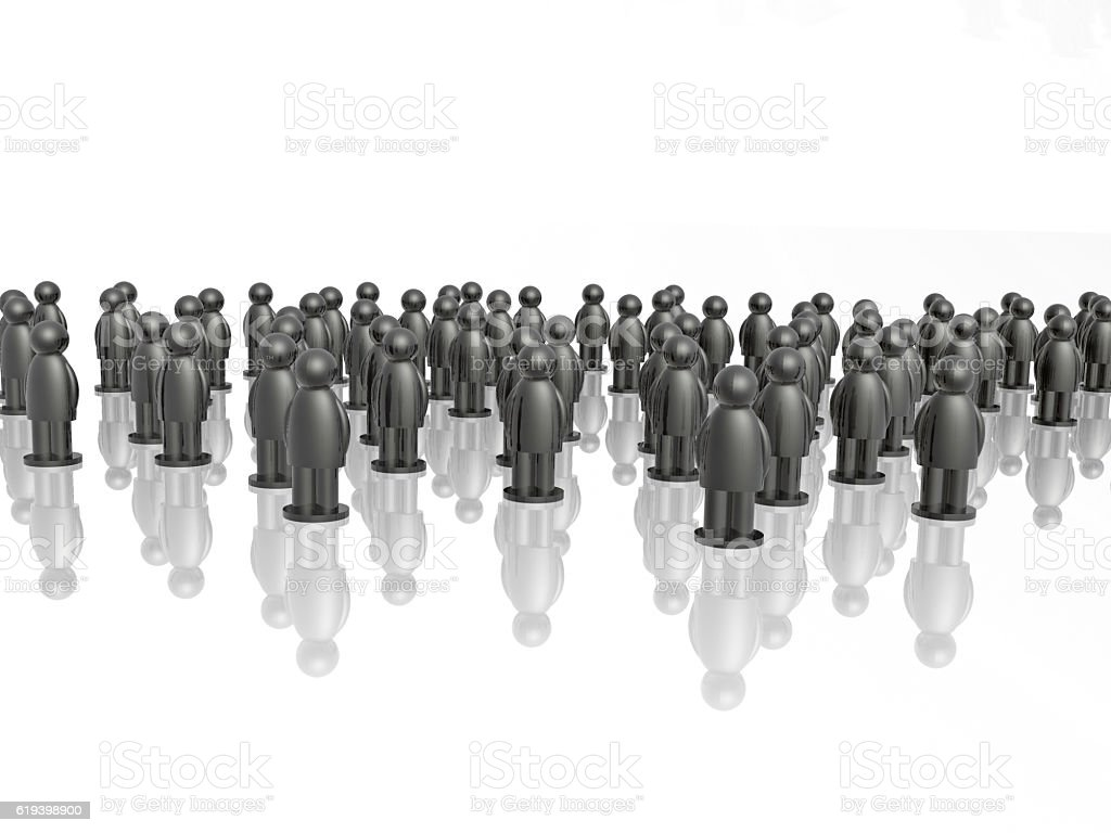 Big group of grey mans stock photo