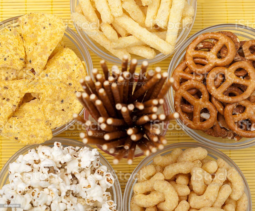 Big group of snacks stock photo