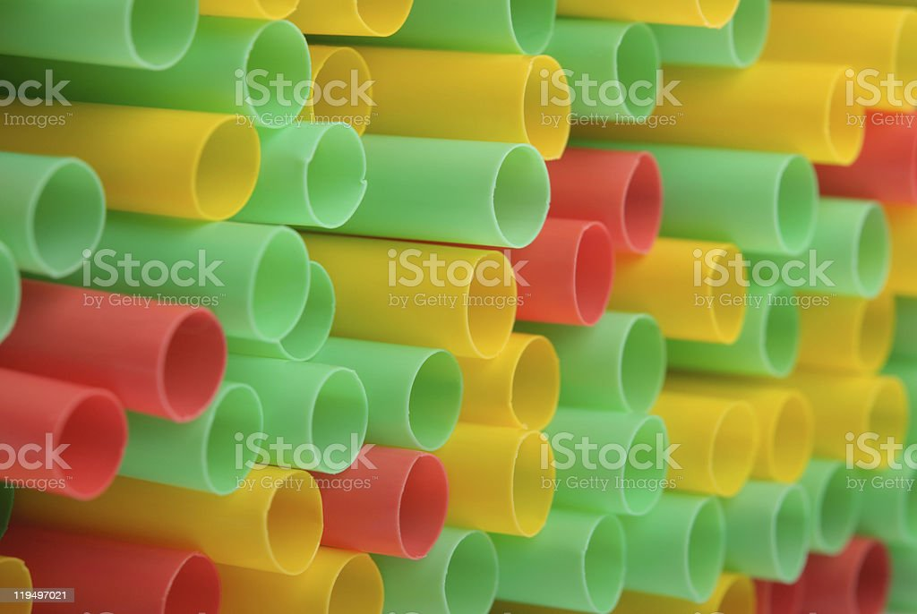 Big group of tubules for drinks stock photo