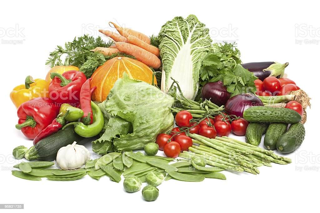 big group of vegetables royalty-free stock photo