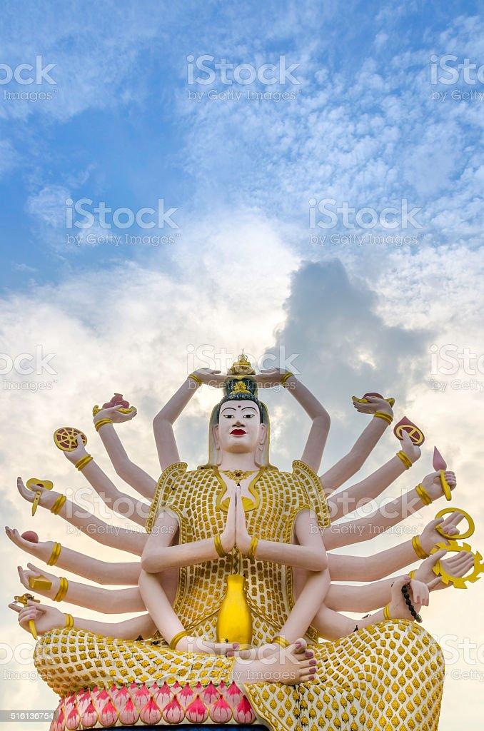 Big Guan Yin Buddha Statue stock photo