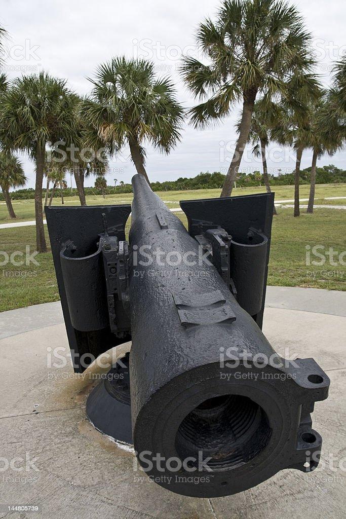 Big gun from breech end stock photo