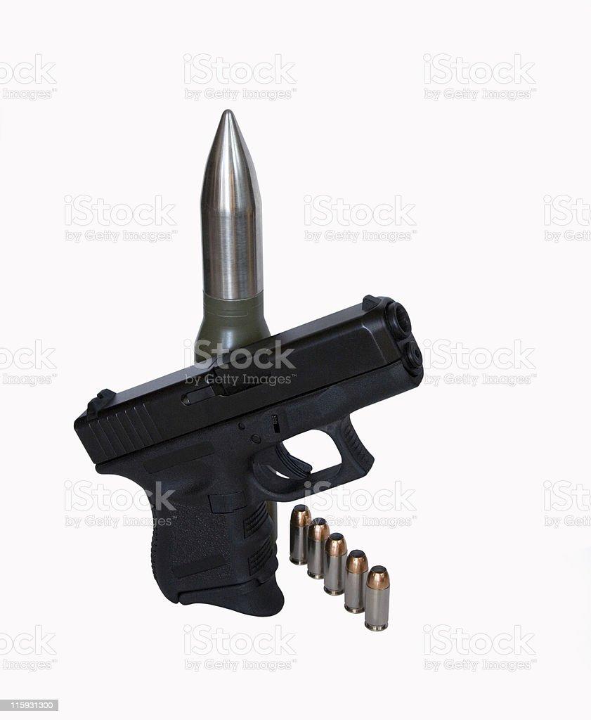 Big Guns stock photo