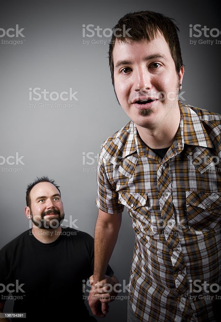 Big Guy, Little Man royalty-free stock photo