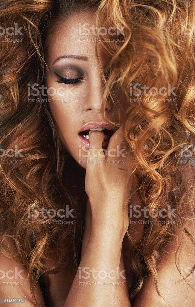Big hair, big dreams stock photo