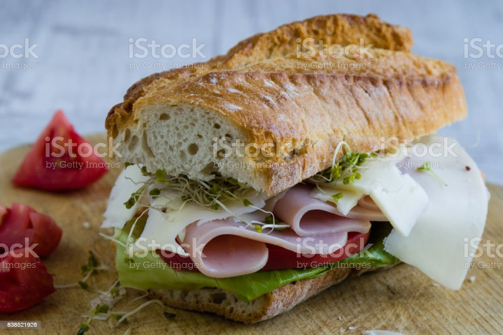 big ham sandwich stock photo