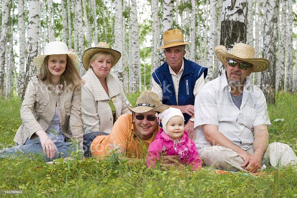 big happy family royalty-free stock photo
