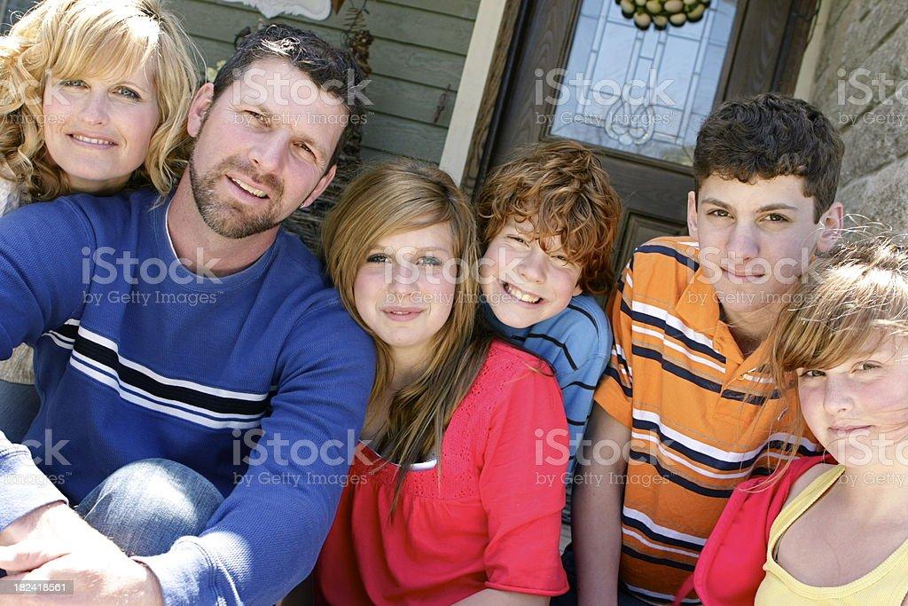 Big Happy Family stock photo