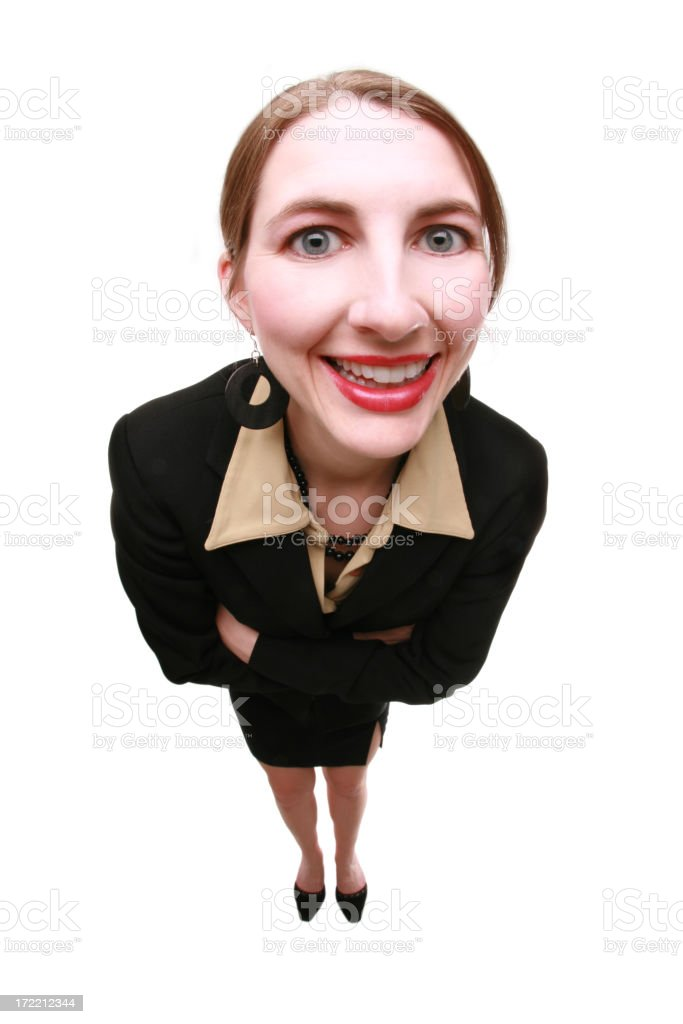 Big Headed Business Woman royalty-free stock photo