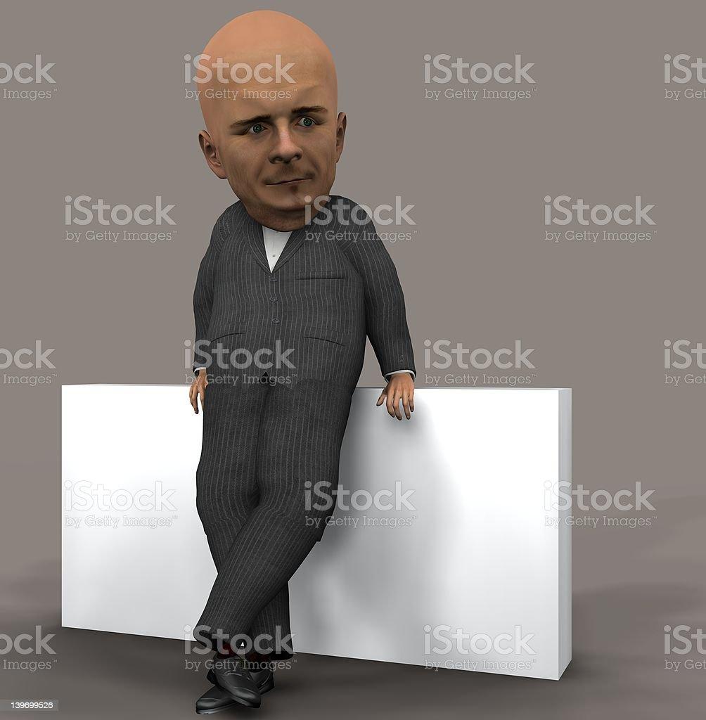 Big Headed Guy stock photo