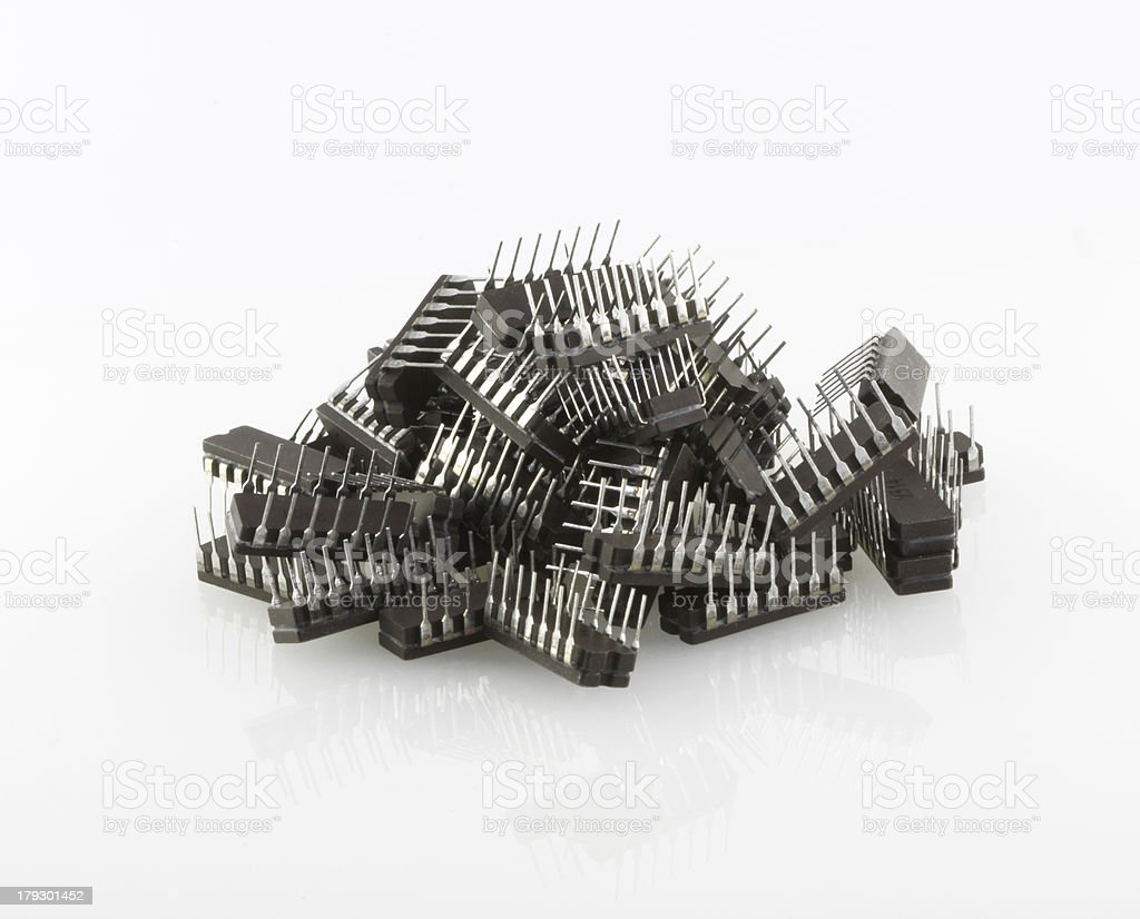 Big heap of microchips royalty-free stock photo