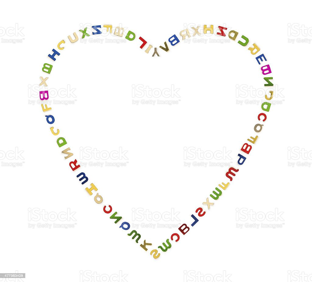 Grande cuore di lettere foto stock royalty-free