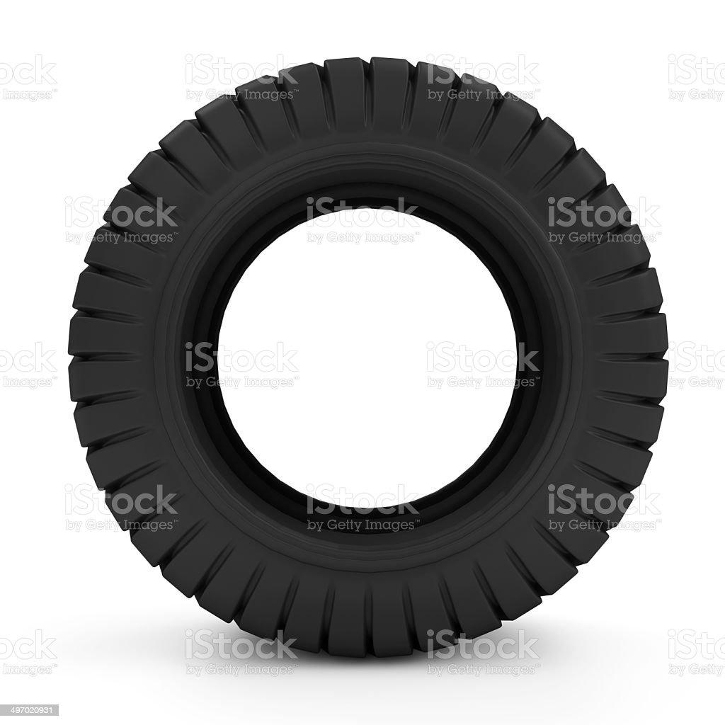 Big Heavy Tire stock photo