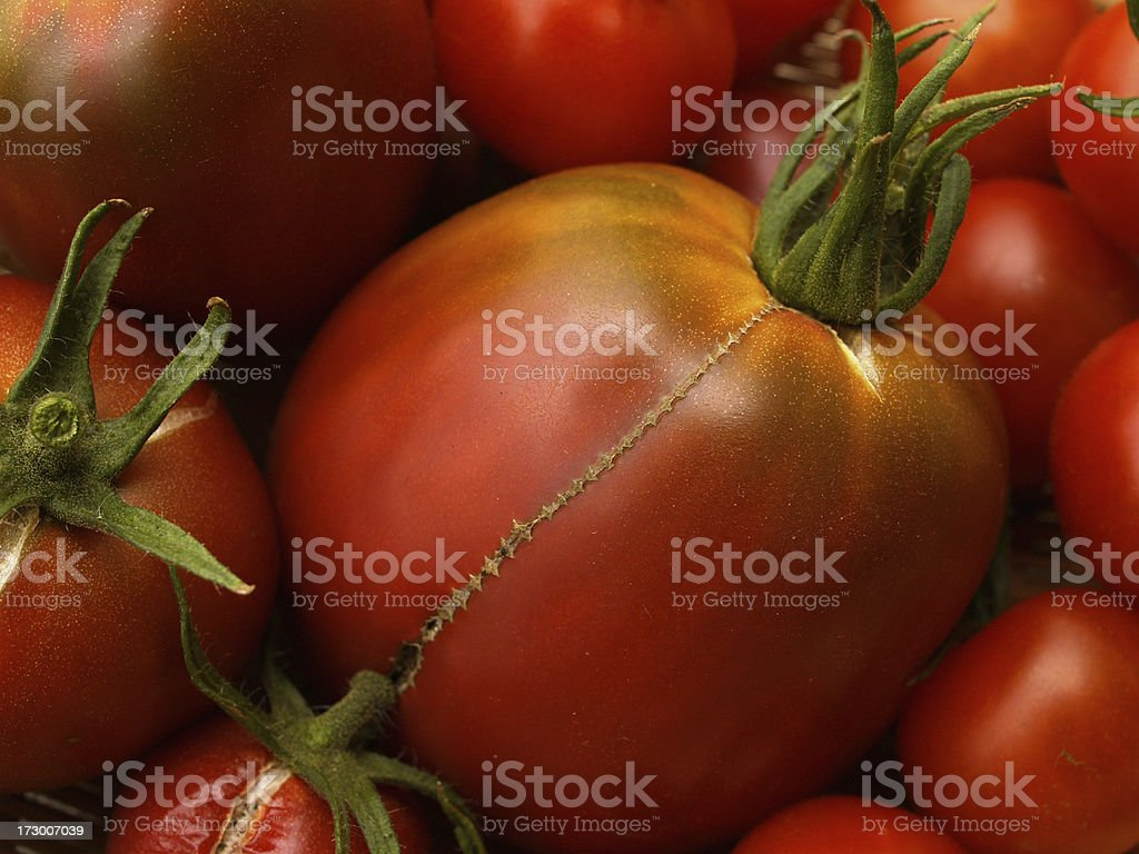 big heirloom tomato royalty-free stock photo