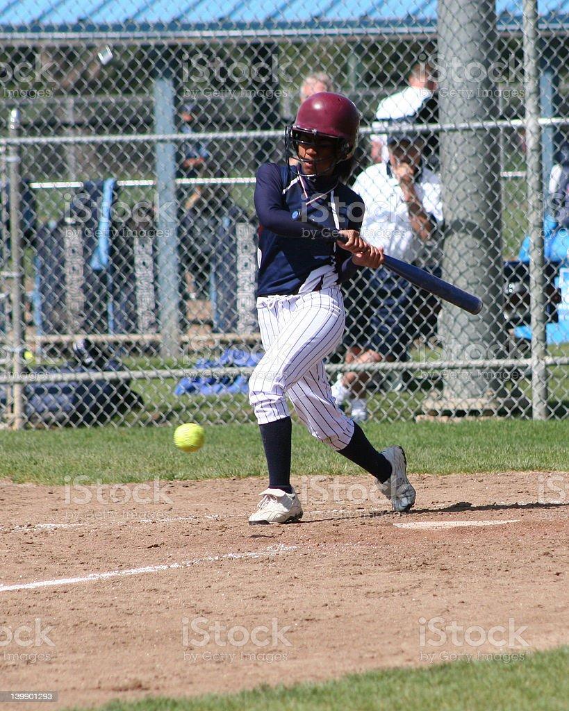 Big Hitter! (Girl's Softball) stock photo