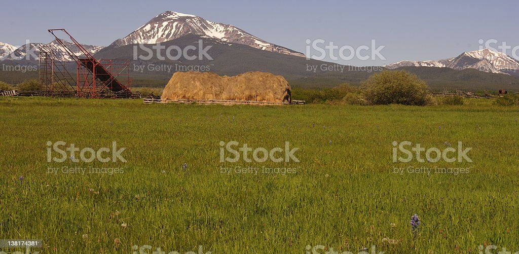 Big Hole Haystack, MT stock photo